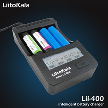 Liitokala lii-400 JK 26650 18350 16340 18650 10440 14500 18500 3.7 litievaya battery nik 1.2 AA / AAA batteries zaryadnoe device
