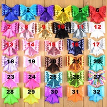 100 unids/lote grandes arcos de lentejuelas bordadas, apliques de lazo que eliges colores