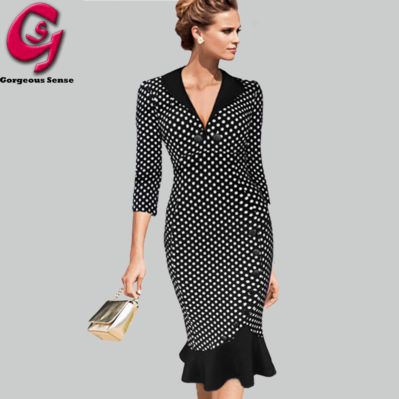 Vintage Style Clothes Uk Dresses Fashion Ladies V Neck Casual Work 2015 UKin