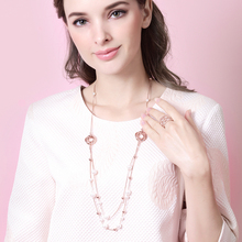 Newest Viennois Fashion Jewelry Rose Gold Color Alloy Woman Long Chains Necklaces with Simulated Pearl Trendy Accessories
