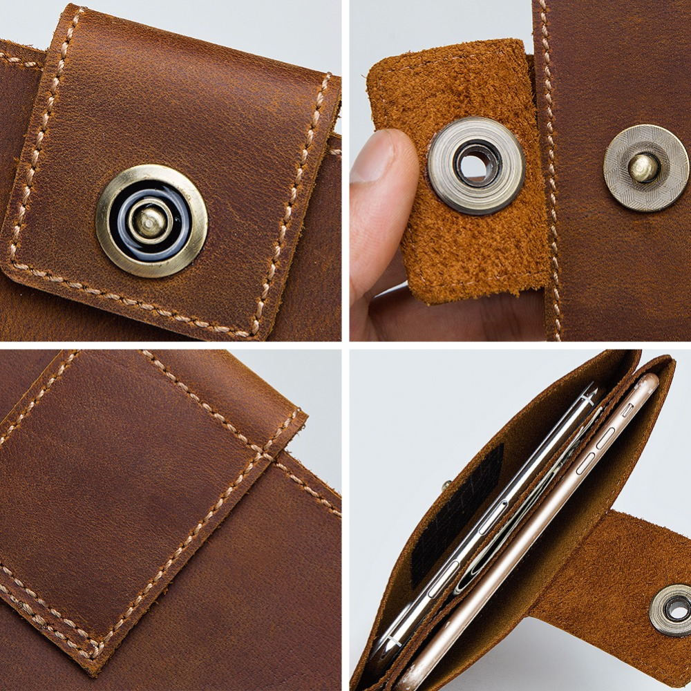 GZCZ Coin Purse Men Wallets Genuine Leather Famous Brand Rfid Klachi Male Vallet Organizer Cell Phone Clutch Money Bag Wristlets