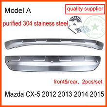 Para Mazda CX-5 de acero inoxidable de protección de parachoques protector de parachoques placa de deslizamiento 2012-2016, 2 Unids/set, proveedor de calidad, garantía de calidad