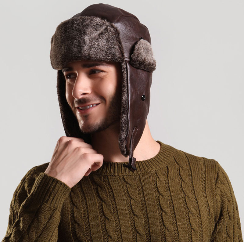 Online Buy Wholesale mens fur winter hats from China mens ...