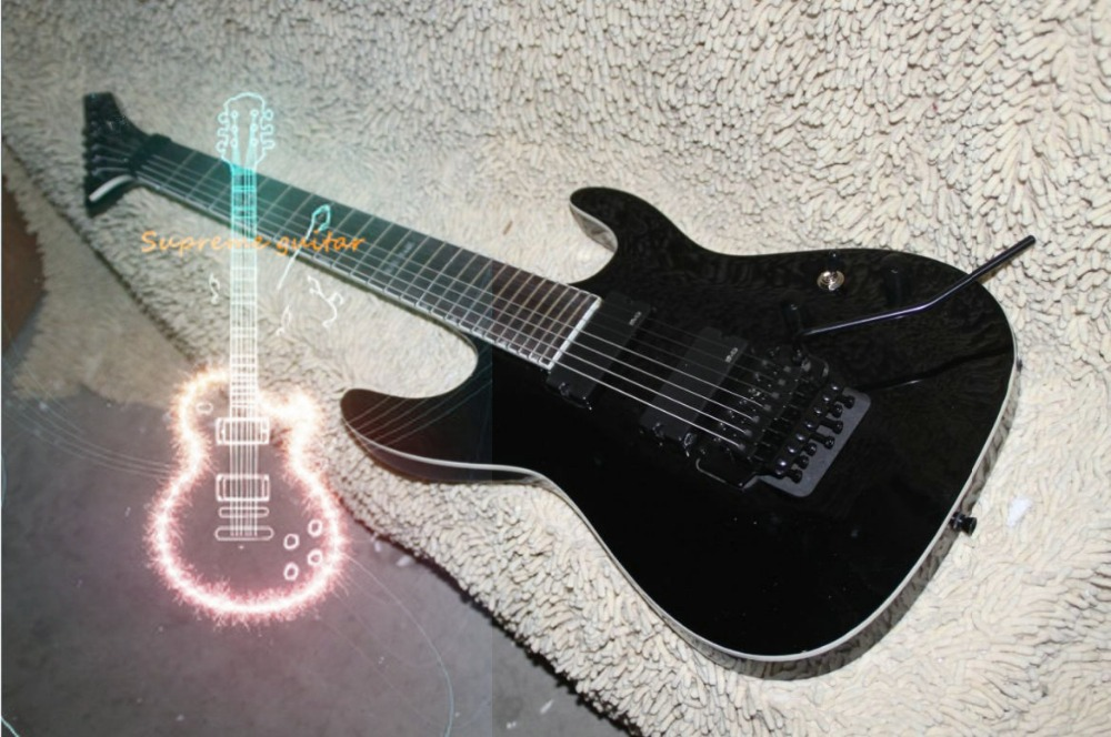wholesale and retail custom shop 7 strings e p black electric guitar free shipping in guitar. Black Bedroom Furniture Sets. Home Design Ideas