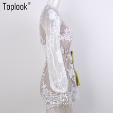 FREE SSHIPPING  V Neck Lace Sequin Jumpsuit JKP315