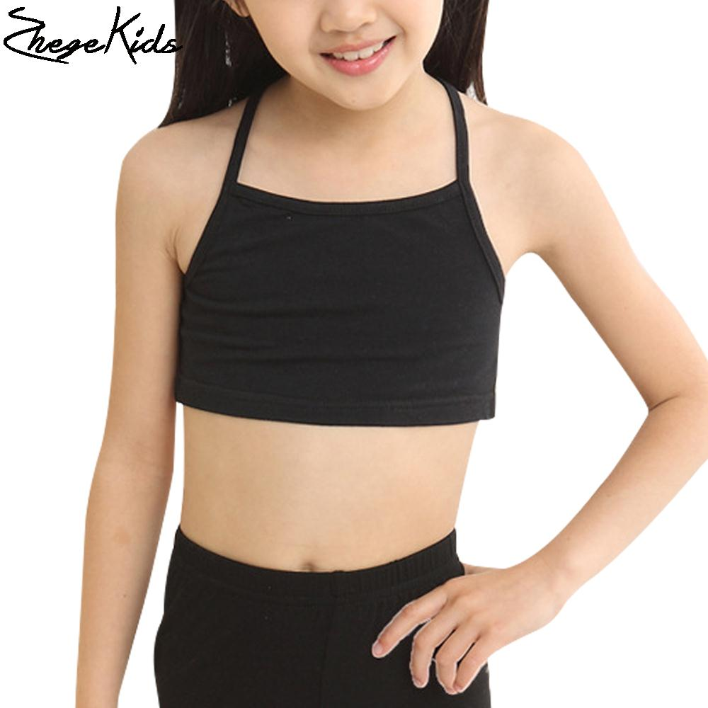 Casual Young Girls Training Bras Camisoles Solid font b Children s b font font b Clothing
