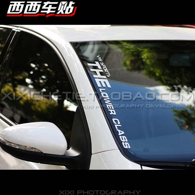 Xgs decal car decal front windshield post sports the lower class reflective waterproof stickers