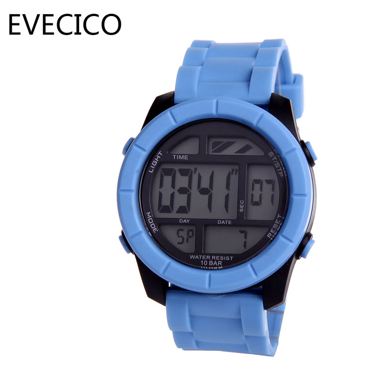 ФОТО Authentic EVECICO 50 m students multi-function luminous Led activity belt watch waterproof watch digital watches