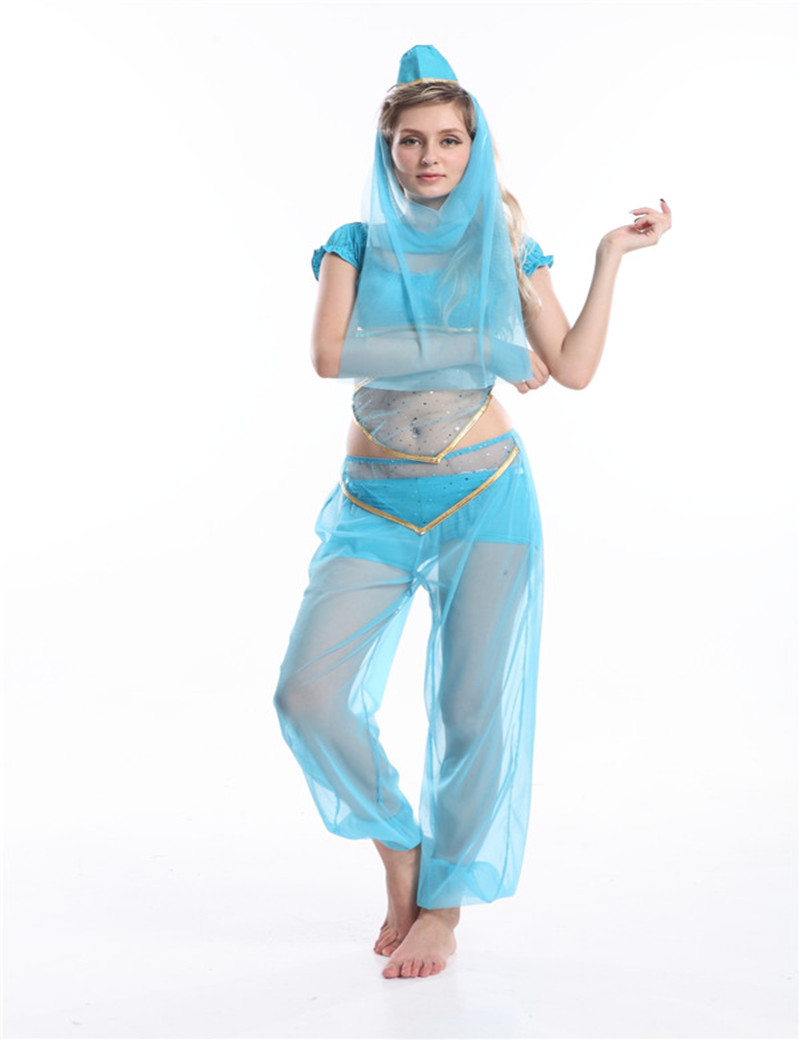 New Sexy Indian Organza Belly Belly Dancing Suit Cosplay Costumes Carnival Outfit For Adult Women 3 Colors