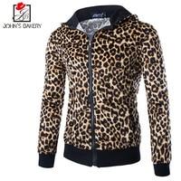 2017 New Fashion Hoodies Brand Men Leopard Zipper Sweatshirt Male Hoody Hip Hop Autumn Winter Hoodie