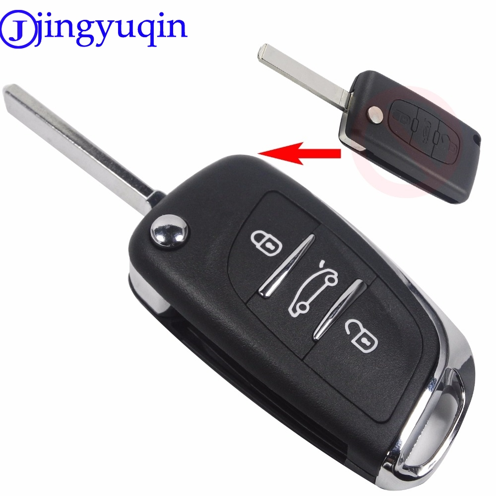 Uncut Blade 3 Buttons Flip Remote Key Shell Cover For PEUGEOT 207 307 308 For Citroen C2 C3 C4 C5 C6 C8 Without Groove CE536 jingyuqin silicone remote key fob cover for peugeot 107 207 307 407 308 607 citroen c1 c2 c3 c4 c5 c6 c8 3 button car styling