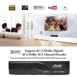 Image 2 - Vmade DVB T2 K6 scart Digital Terrestrial TV Receiver Fully HD 1080p H.265 / HEVC Support Dolby AC3 DVB T2 Set Top Box+USB WIFI