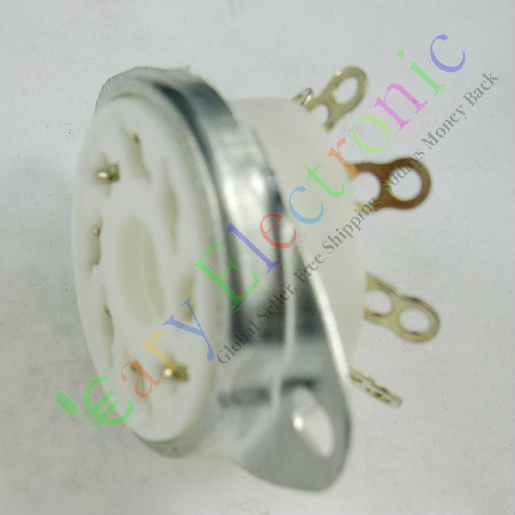 Wholesale and retail 20pc 8pin Ceramic vacuum tube socket octal valve base fr EL34 KT88 6550 audio amp free shipping