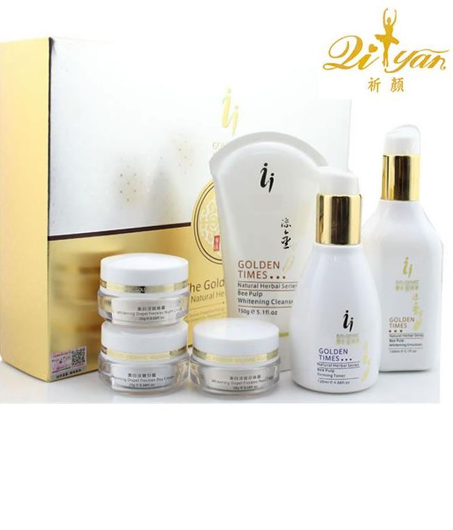 FREE SHIPPING QIYAN YIQI GOLDENEC BEAUTIFYING MAKE UP WHITENING CREAM REMOVE FRECKLE SPECKLE SET 6PCS/SETFREE SHIPPING QIYAN YIQI GOLDENEC BEAUTIFYING MAKE UP WHITENING CREAM REMOVE FRECKLE SPECKLE SET 6PCS/SET