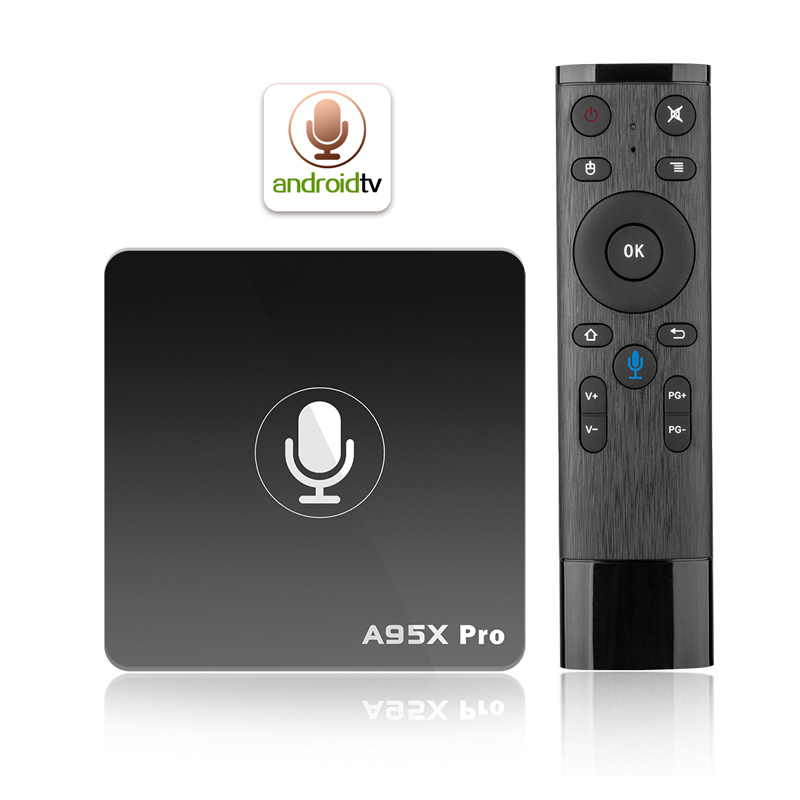 A95 X PRO Smart Google voice control tv box Android 7 1 Amlogic S905W Quad Core