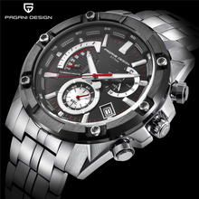 PAGANI DESIGN Men's Watches Luxury Brand Men Chronograph Business Quartz Watch Stainless Steel Waterproof Sport Watches Clock pagani design luxury brand chronograph business watches men waterproof 30m calendar quartz watch steel clock men reloj hombre