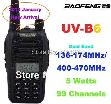 2015 NEW ham radio Baofeng UV-B6 Dual Band walkie talkie VHF136-174MHz&UHF400-470MHz 5W Baofeng B6 portable radio2015 NEW ham radio Baofeng UV-B6 Dual Band walkie talkie VHF136-174MHz&UHF400-470MHz 5W Baofeng B6 portable radio