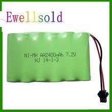 Ewellsold RC car RC truck boat RC tank 7.2v 2400mAh Ni-CD rechargeable battery free shipping