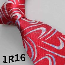2017 Latest Style Men Tie Necktie Red Blue White Geometric Floral Design Tie For Man Tie