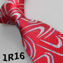 2018 Latest Style Men Tie Necktie Red Blue White Geometric Floral Design Tie For Man Tie