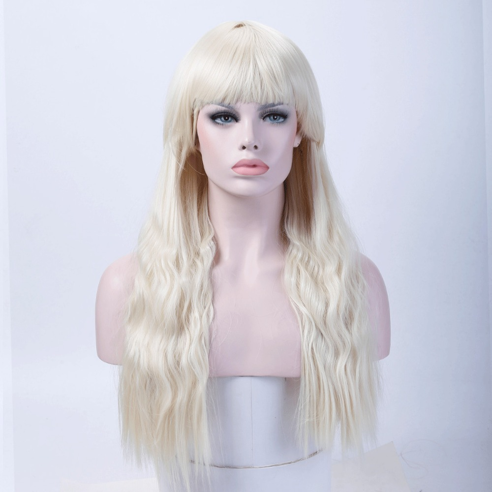 24 Inches Long Curly Wigs for Women Dark Brown Color American Synthetic Heat Resistant Wigs allaosify