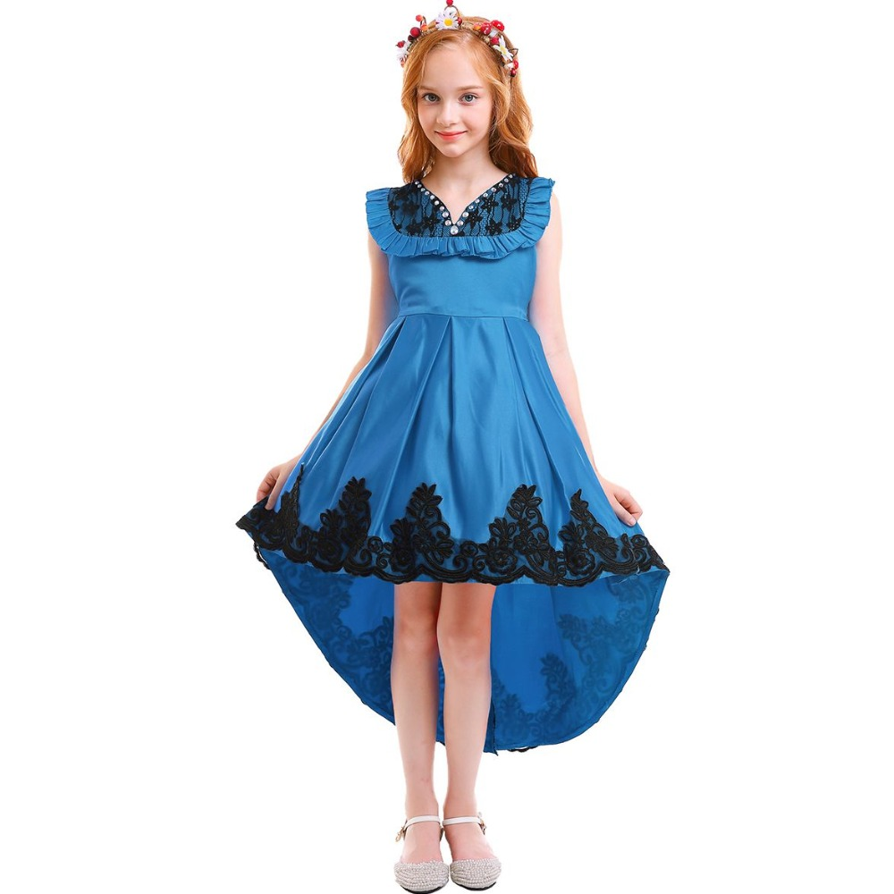 Fashion New kids Girls Dress Party for Birthday Wedding Bridesmaid Princess Elegant Lace Kids