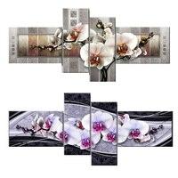 4 Stück Orchidee blume, 5d Diamant Stickerei bild decor, 5D Diy Diamant-malerei Handkreuzstich Mosaik Aufkleber geschenk