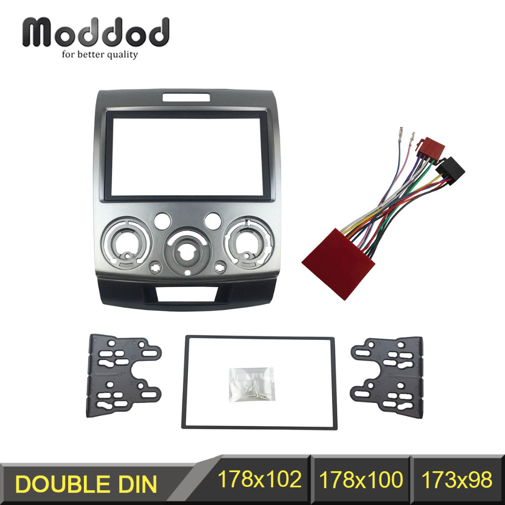 Double Din Stereo Panel for Ford Everest Ranger Mazda BT-50 BT50 Fascia  With ISO