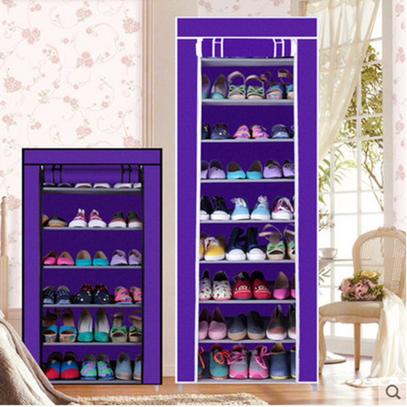 Shoe Cabinet Shoes Rack Prevent Dust And Moisture Storage Large Capacity  Home Furniture DIY Simple 7 Or 10 Layers In Shoe Cabinets From Furniture On  ...