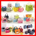 (2pcs/lot) 17 styles available wholeslae insulated thermal cooler lunch picnic bags