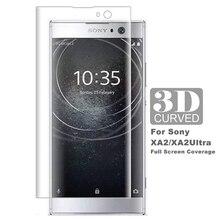 غطاء غشاء منحني ثلاثي الأبعاد من الزجاج المقسى لهاتف Sony Xperia XA2 واقي شاشة كامل XA2 زجاج فائق H3113 H4213 غشاء واقي