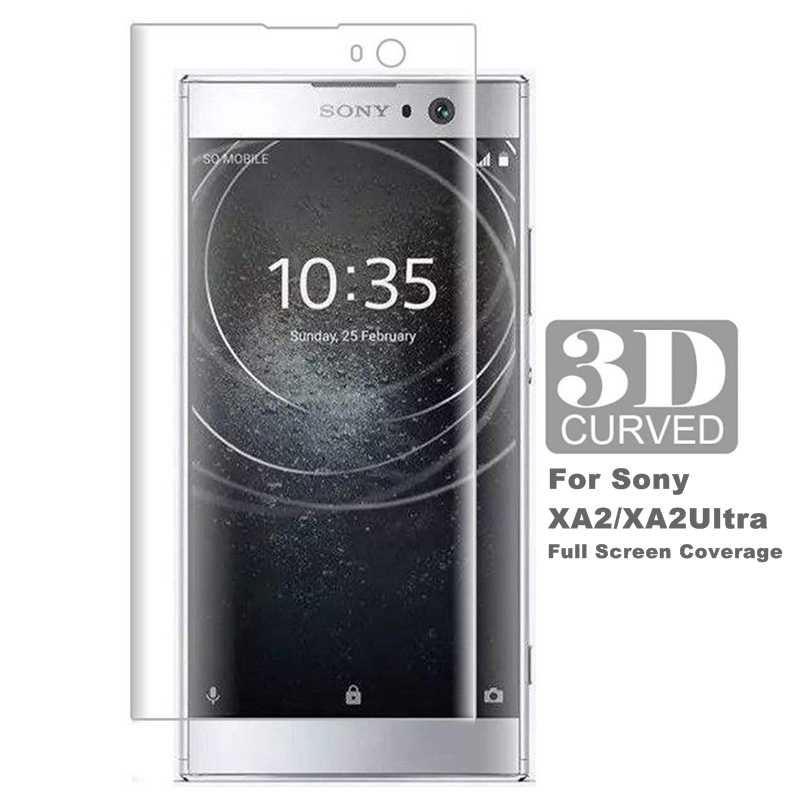 Tempered Glass 3D Curved Films Cover For Sony Xperia XA2 Full Screen Protector XA2 Ultra Glass H3113 H4213 Protective Film(China)