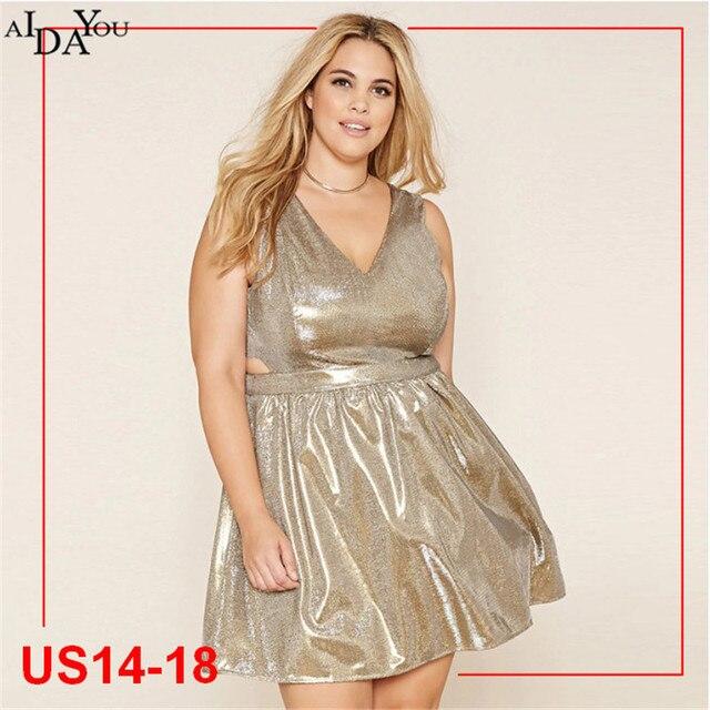 Plus größe 5xl Sexy frauen Kleid Sparkle V ausschnitt empire Taille ...
