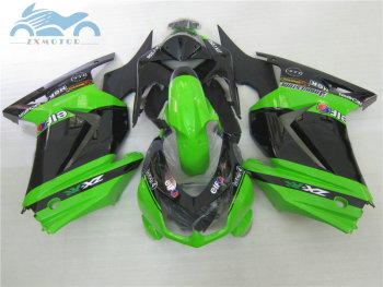 Custom Injection fairing kits for KAWASAKI Ninja 250 2008-2014 ZX 250R ABS sport motorcycle fairings EX250 08-14 green black set