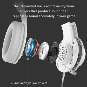 Image 3 - 教旨G4ゲーミングヘッドセット内蔵7.1仮想サラウンドサウンドカードと格納式マイクledと金属メッシュデザインヘッドホン