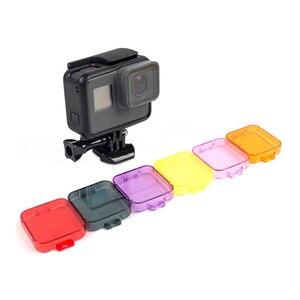 Image 5 - DIVE Filter สำหรับ GOPRO 5 Professional 6 สีกรองสีเหลืองสีแดงสีม่วงสีส้มสีชมพู DIVE เลนส์กรองสำหรับ GO pro Hero 5 6 7