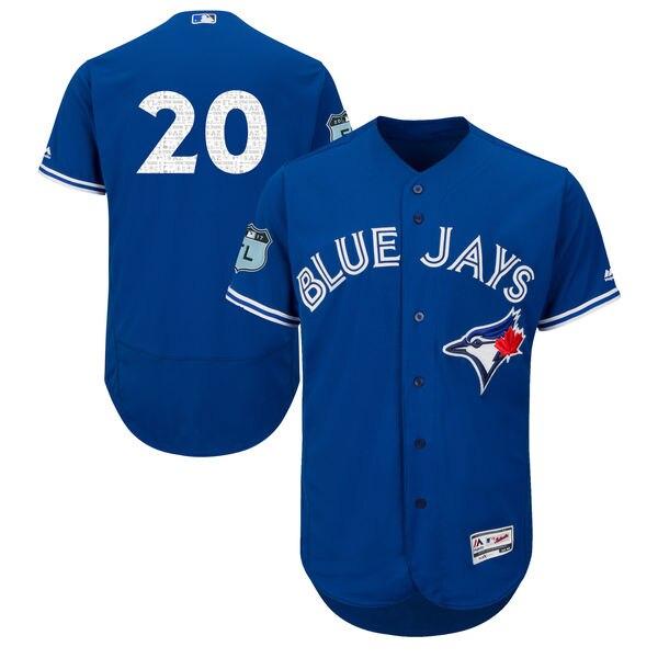 2016 MLB FLEXBASE Toronto Blue Jays 20 Donaldson blue jersey
