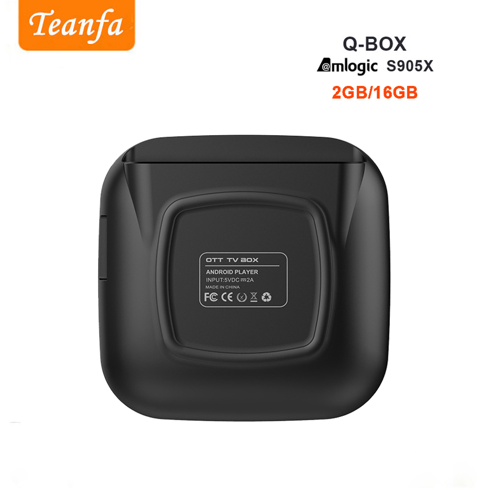 Teanfa Q BOX Set-top box 2G 16G Android 6.0 Smart TV Box S905X Quad - Accueil audio et vidéo - Photo 5