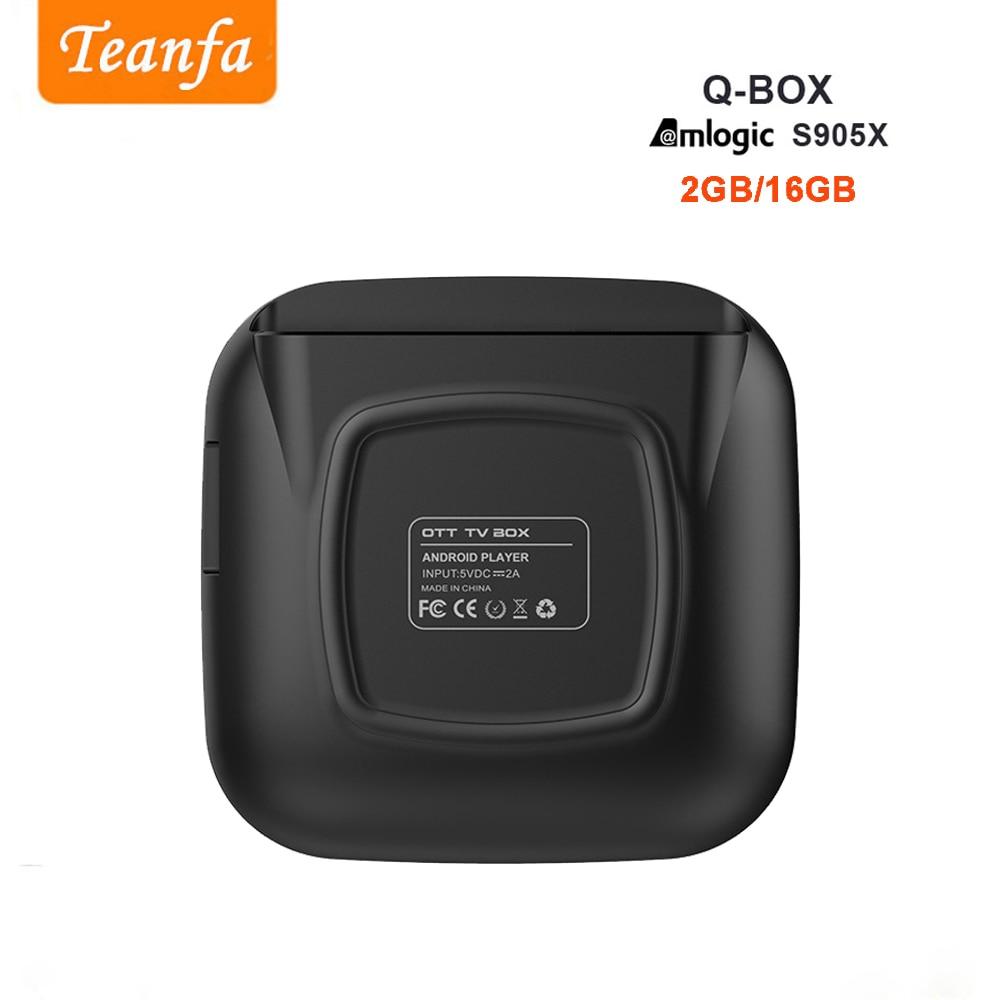 Teanfa Q BOX Kutia e sipërme 2G 16G Android 6.0 Smart TV Box S905X - Audio dhe video në shtëpi - Foto 5