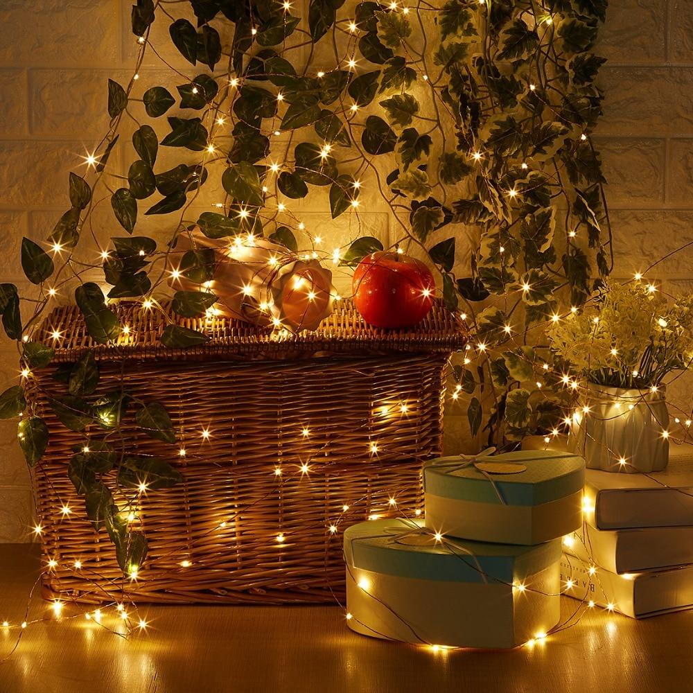 20M / 66Ft 200 diod LED Zdalne przyciemnianie Led String Fairy Lights - Oświetlenie wakacje - Zdjęcie 5