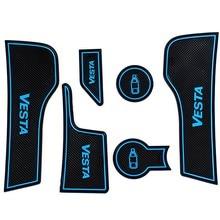 VESTA Car Door Groove Mat Interior Anti-Slip Cup Mats  For LADA VEST 2015-2019