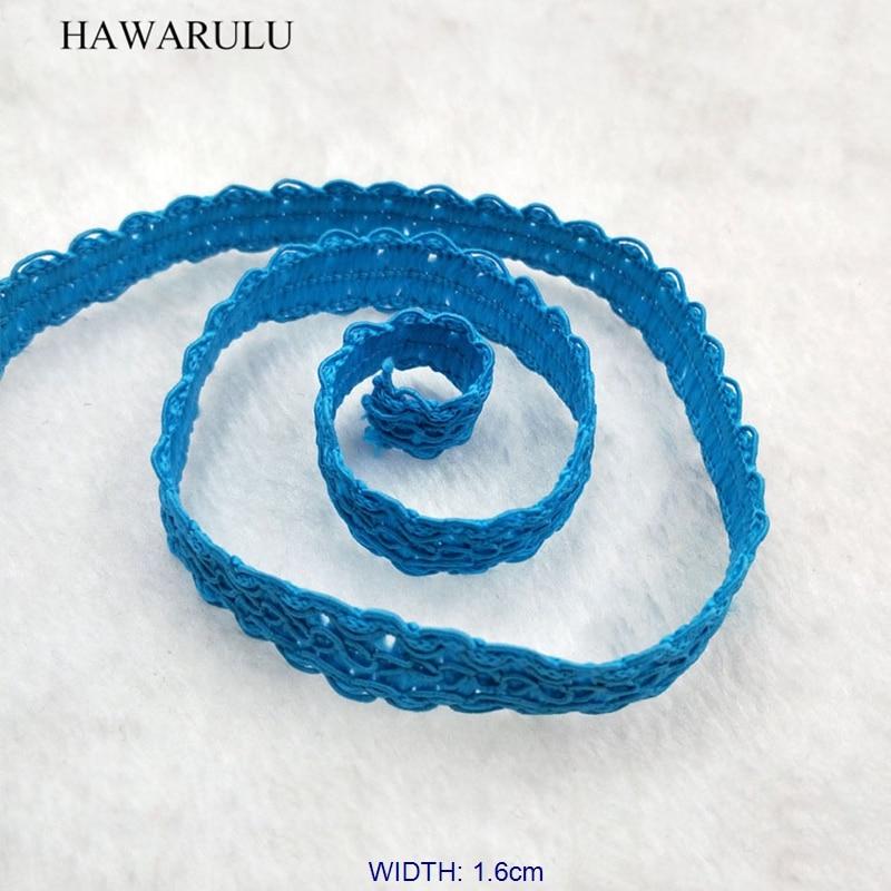 HAWARULU 2yard 1 6cm Handmade DIY blue centipede foot dress accessories lamp decorative curtain Christmas Hallowmas wedding lace in Lace from Home Garden