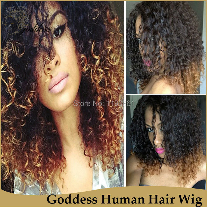 Goddess 6a Curly 1b 30 Dip Dye Human Hair Extensions Remy Indian