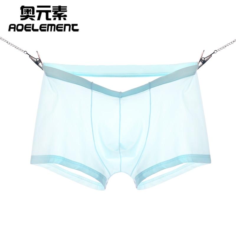 Men Boxer Shorts  underpants ice silk sexy Calzoncillos Hombre Slips Ropa Interior Home Underwear men L XL XXL XXXL Boxers traje de baño transparente hombre