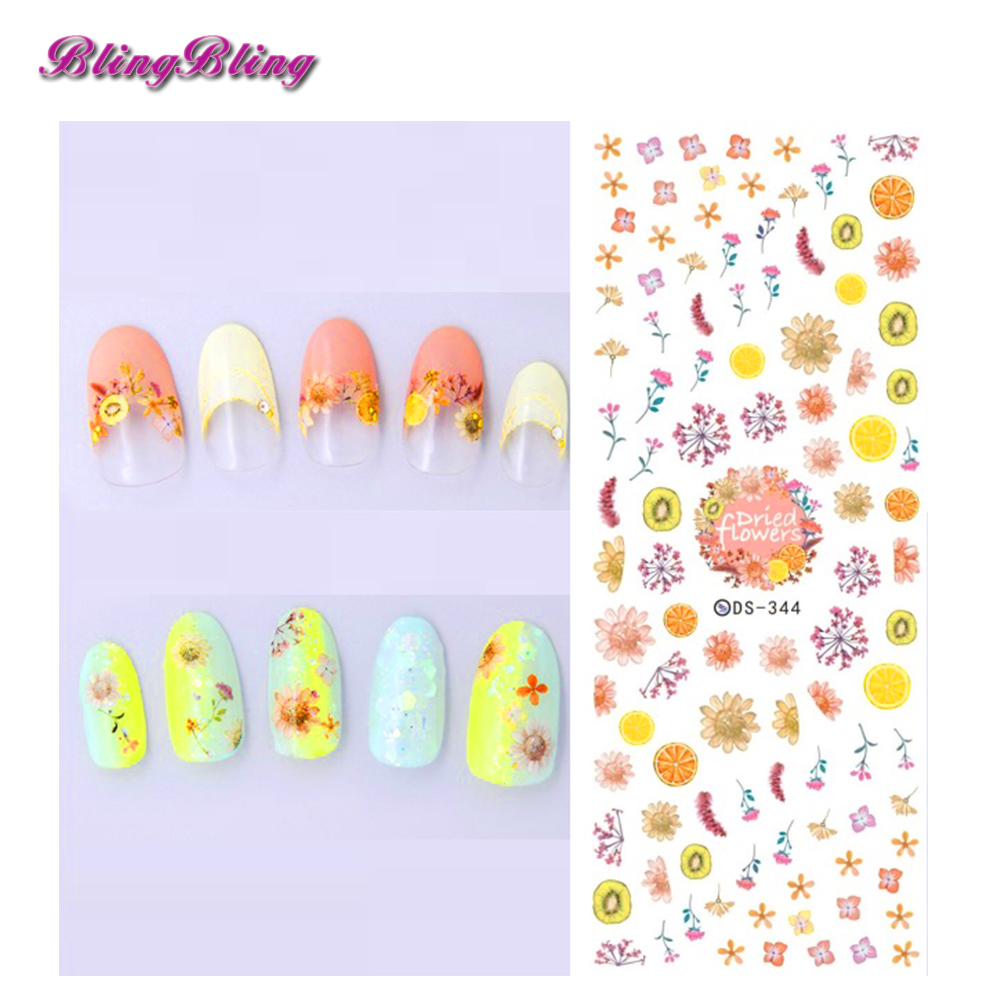 Blignbling 1pcs Lemon Water Lemon Fruit Nail Art Tips Decoration DS ...
