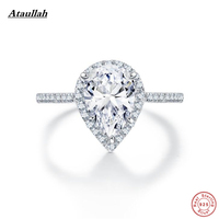 Ataullah 925 Sterling Silver Heart Rings for Women White Gold Plated SONA Diamond Wedding Rings for Engagement Jewelry RWD839