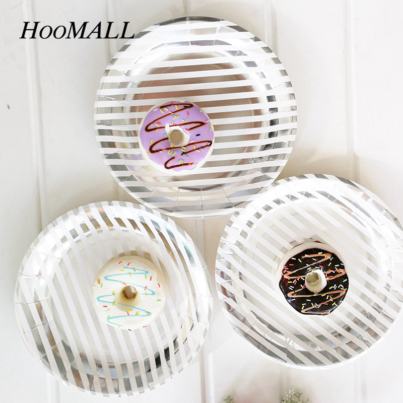 Hoomall 8Pcs/lot Gilding Black Grid Dot Vertical Stripes Paper Plates Disposable Tableware Set Party Supplies Wedding Decoration-in Disposable Party ...  sc 1 st  AliExpress.com & Hoomall 8Pcs/lot Gilding Black Grid Dot Vertical Stripes Paper ...