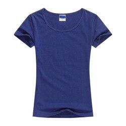 2018 Summer High Quality 15 Color S-2XL Plain T Shirt Women Cotton Elastic Basic Tshirt Woman Casual Tops Short Sleeve T-shirt 2