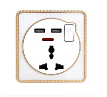 2 USB wall socket Multi-function mobile phone charging switch panel