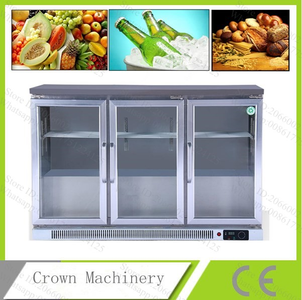 Free Shipping 330l Refrigerator Display Cabinet Supermarket Fresh Food Freezer Bar Refrigerated Counter